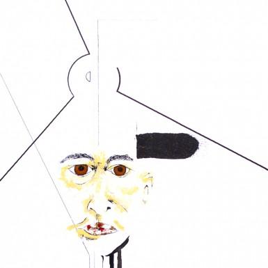 Portrait Series Explored - Ned Tobin mixed media art